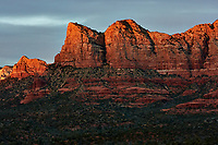 Sunset Panorama Sedona, Arizona. Image 6 of 11 images taken with a Nikon 1 V2 camera and 32 mm f/1.2 lens (ISO 200, 32 mm, f/5.6, 1/40 sec). Raw images processed with Capture One Pro. Panorama generated using AutoPano Giga Pro.