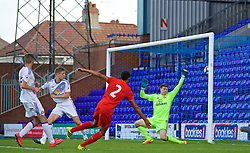 BIRKENHEAD, ENGLAND - Sunday, September 25, 2016: Liverpool's Trent Alexander-Arnold scores the third goal against in action against Sunderland during the FA Premier League 2 Under-23 match at Prenton Park. (Pic by Concepcion Valadez/Propaganda)