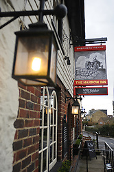 © Licensed to London News Pictures. 15/02/2013.The Harrow Inn, which houses the restaurant. A French restaurant in Kent has been selling Horse Burgers for a few months. Chez Sophie in Knockholt, near Sevenoaks, Kent,  has the burgers on its menu and is served with a fried egg and salad.  Many of the restaurants customers in the village have tried the horse burger. Photo credit : Grant Falvey/LNP