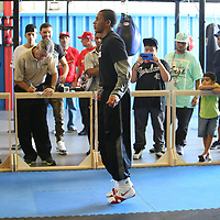 ORLANDO, FL - Felix Verdejo jumps rope during a media day workout at the Orlando Sports Martial Arts Academy on October 2, 2014 in Orlando, Florida. (Photo by Alex Menendez/Getty Images) *** Local Caption *** Felix Verdejo