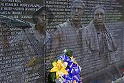 Vietnam Veterans, Memorial Wall, Close up, super imposed, composite, Washington, DC,  USA
