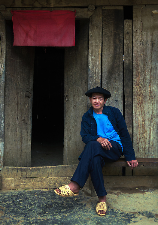 A Hmong gentleman in his village near Meo Vac, Vietnam.