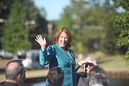 Gail Silver, daughter of James L. Silver, is recognized at a dedication ceremony for Silver Pond in Oxford, Miss. on Friday, September 30, 2011. James W. Silver was a history professor and author of a well-known book on repression during the segregation era. He joined the Ole Miss faculty in 1936 and served as chair of the history department from 1946 to 1957. During the segregationist era, Silver was frequently at odds with state political leaders, but never daunted by them. He was a constant critic of racial taboos and spoke out against them, often in letters to the editors of various newspapers in the region. His 1964 treatise, ÒMississippi: The Closed Society,Ó became one of the most talked-about books to come out of the state during the period.