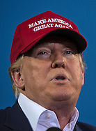 Aug. 21. 2015 Mobile, AL, Republican presidential candidate and business mogul Donald Trump speaks at his campaign pep rally in Ladd Peebles Stadium. Over 20 thousand came to the Ladd-Peebles Stadium to attend Trumps campaign pep rally though 40000 were expected. . People were asked not to bring signs.