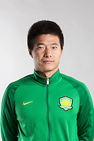 Portrait of Chinese soccer player Lv Peng of Beijing Sinobo Guoan F.C. for the 2017 Chinese Football Association Super League, in Benahavis, Marbella, Spain, 18 February 2017.