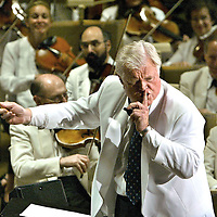 "Massachusetts Sr Senator Ted Kennedy conducts the Boston Pops during ""A Tribute To Ted"". photo by Mark Garfinkel  2004"