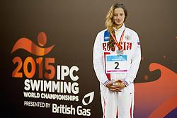 SHABALINA Valeriia RUS, GBR, AUS at 2015 IPC Swimming World Championships -  Women's 100m Backstroke S14