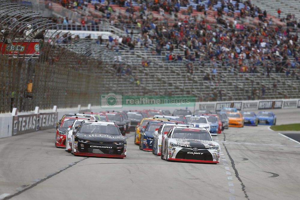 November 3, 2018 - Ft. Worth, Texas, United States of America - Christopher Bell (20) battles for position during the O'Reilly Auto Parts Challenge at Texas Motor Speedway in Ft. Worth, Texas. (Credit Image: © Justin R. Noe Asp Inc/ASP via ZUMA Wire)