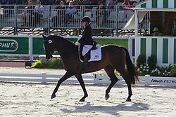 Natasha Baker, (GBR), Cabral - Freestyle Grade II Para Dressage - Alltech FEI World Equestrian Games™ 2014 - Normandy, France.<br /> © Hippo Foto Team - Leanjo de Koster<br /> 25/06/14
