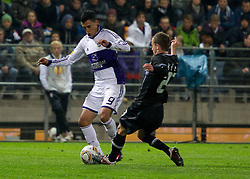 20.10.2011, UPC Arena, Graz, AUT, UEFA Europa League, Sturm Graz (AUT) vs RSC Anderlecht (BEL), im Bild Christian Klem (SK Sturm Graz, #27, Midfield) gegen Matias Suarez (RSC Anderlecht, Offense, #9) // during UEFA Europa League football game between Sturm Graz (AUT) and RSC Anderlecht (BEL) at UPC Arena in Graz, Austria on 20/10/2011. EXPA Pictures © 2011, PhotoCredit: EXPA/ E. Scheriau
