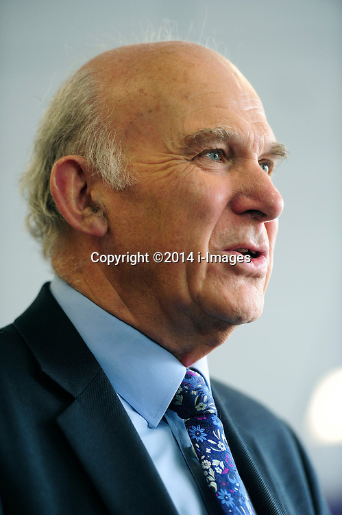"Image ©Licensed to i-Images Picture Agency. 11/07/2014. London, United Kingdom. Business Secretary Vince Cable during the ""Lets Get Cooking "" project at Twickenham Academy. Picture by i-Images"