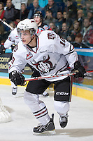 KELOWNA, CANADA, NOVEMBER 9: Turner Elson #10 of the Red Deer Rebels skates on the ice as the Red Deer Rebels visit the Kelowna Rockets  on November 9, 2011 at Prospera Place in Kelowna, British Columbia, Canada (Photo by Marissa Baecker/Shoot the Breeze) *** Local Caption ***
