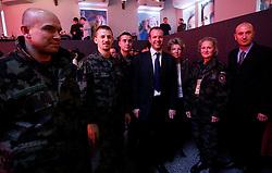 PRISTINA, KOSOVO - DECEMBER 14 - Slovenski vojaki na gala otvoritvi  delovanja drugega mobilnega operaterja IPKO, ki je v 67% lasti Telekoma Slovenije.