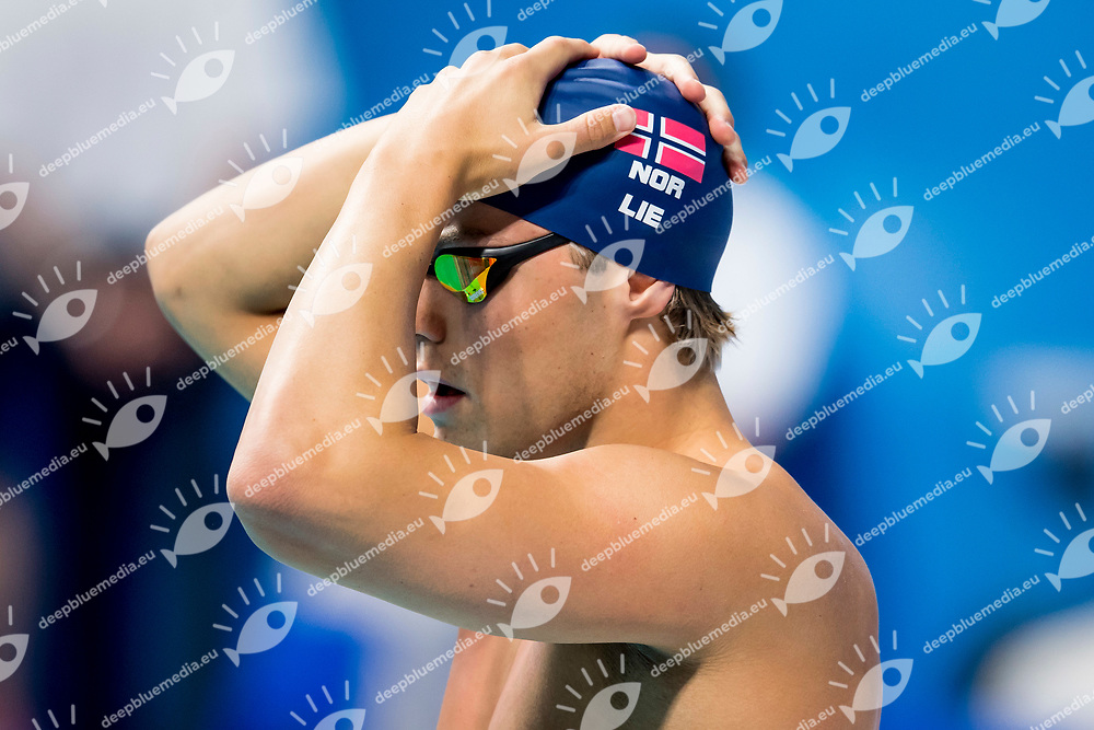 LIE Markus NOR<br /> Men's Backstroke 50m Heats<br /> Day 16 29/07/2017 <br /> XVII FINA World Championships Aquatics<br /> Duna Arena Budapest Hungary  <br /> Photo &copy;A.Masini/Deepbluemedia/Insidefoto