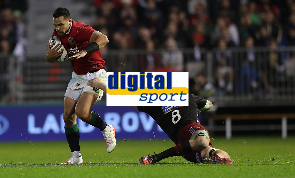 Rugby Union - 2017 British & Irish Lions Tour of New Zealand - New Zealand Provincial Barbarians vs. British & Irish Lions<br /> <br /> Ben Te'o of The British and Irish Lions side steps Mitchell Dunshea of New Zealand Provincial Barbarians during the match at Toll Stadium [Okara Park], Whangarei.<br /> <br /> COLORSPORT/LYNNE CAMERON