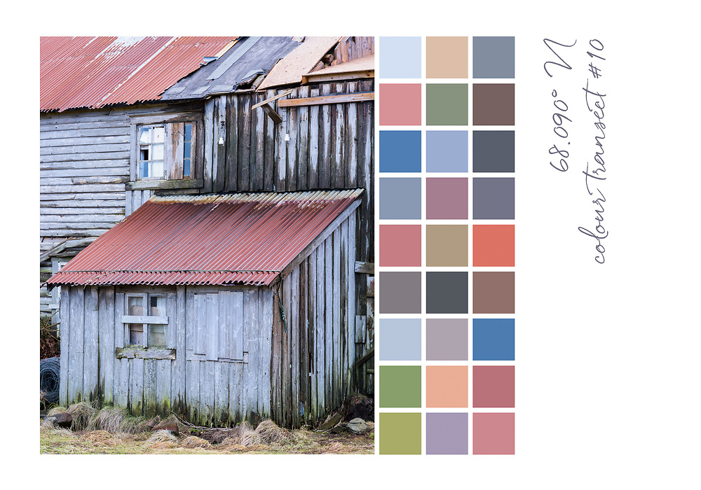 Colour transect #10, 68.090° N