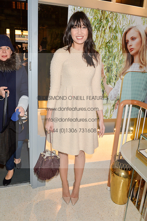 DAISY LOWE at the launch of the new J&M Davidson flagship shop at 104 Mount Street, London on 3rd February 2016.