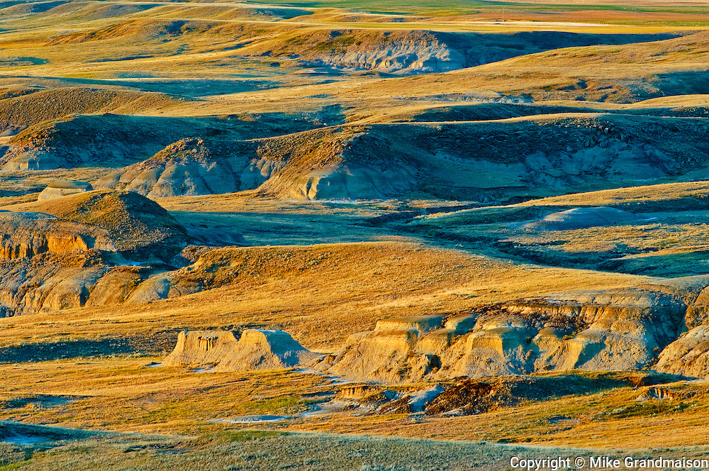 sunrise over Killdeer Badlands (East Block)<br /> Grasslands National Park<br /> Saskatchewan<br /> Canada