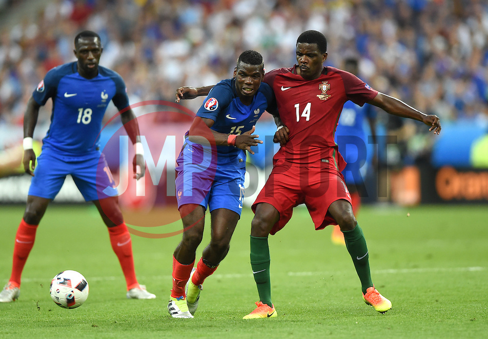 William Carvalho of Portugal battles for the ball with Paul Pogba of France  - Mandatory by-line: Joe Meredith/JMP - 10/07/2016 - FOOTBALL - Stade de France - Saint-Denis, France - Portugal v France - UEFA European Championship Final