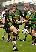 Northampton, GREAT BRITAIN, Saints, Scrum half, Mark ROBINSON, Kicks clear, Northampton Saints vs Bath Rugby, in the Guinness Premiership Rugby match, at  Franklin's Gardens, Northampton, ENGLAND on 16/09/2006 [Photo, Peter Spurrier/Intersport-images].