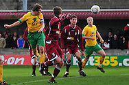 Bristol - Saturday November 7th, 2009: Grant Holt of Norwich City scores against Paulton Rovers during the FA Cup 1st round match at Paulton. (Pic by Alex Broadway/Focus Images)..