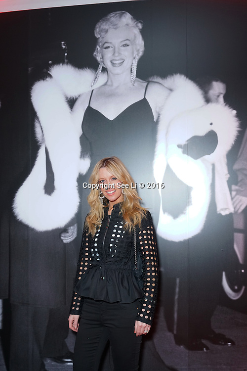 London,England,UK : 25th May 2016 : Anouska Lancaster creator of Noushka design attend the Marilyn Monroe: Legacy of a Legend launch at the Design Centre, Chelsea Harbour, London. Photo by See Li
