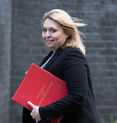 Downing Street, London, February 28th 2017. Secretary of State for Culture, Media and Sport Karen Bradley attends the weekly cabinet meeting at 10 Downing Street in London.