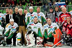players during ice-hockey friendly match between legends of HDD Tilia Olimpija and HK Acroni Jesenice, on April 14, 2012 at SRC Stozice, Ljubljana, Slovenia. (Photo By Matic Klansek Velej / Sportida.com)