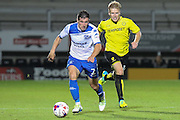 Bury FC defender Craig Jones (2) leads the attack during the EFL Cup match between Burton Albion and Bury at the Pirelli Stadium, Burton upon Trent, England on 10 August 2016. Photo by Aaron  Lupton.