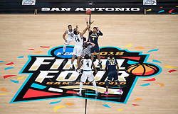 SAN ANTONIO, TX - APRIL 02:  Villanova Wildcats vs. Michigan Wolverines in the 2018 NCAA Men's Final Four at the Alamodome on April 2, 2018 in San Antonio, Texas. (Photo by Joshua Duplechian/NCAA Photos via Getty Images)