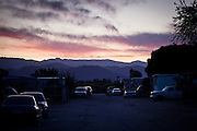 Sunset in the Rancho Garcia trailer park in Thermal, Calif., March 8, 2012.