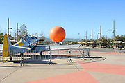 Vintage Airplane and Balloon at Orange County Great Park Irvine