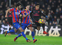 Football - 2017 / 2018 Premier League - Crystal Palace vs. Arsenal<br /> <br /> Alexis Sanchez of Arsenal moves through the palace defence to score, goal no 3 at Selhurst Park.<br /> <br /> COLORSPORT/ANDREW COWIE