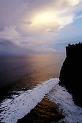 Pura Luhur Ulu Watu cliff temple at dawn.