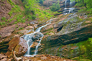 Beulach Ban Falls. Cabot Trail. Cape Breton Island. Appalachian Mountain chain.  <br />