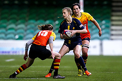 Vicky Laflin of Worcester Warriors Women take son Jessica Wooden of Richmond Women - Mandatory by-line: Robbie Stephenson/JMP - 11/01/2020 - RUGBY - Sixways Stadium - Worcester, England - Worcester Warriors Women v Richmond Women - Tyrrells Premier 15s