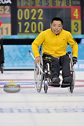 Wei Liu, Wheelchair Curling Finals at the 2014 Sochi Winter Paralympic Games, Russia