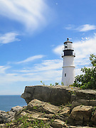 Portland Head Light Lighthouse in Cape Elizabeth, Maine. The quintessential image of Maine