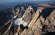 Climbing the Grand Teton with Brenton Reagan, Nat Patridge, and Hadley Hammer in Grand Teton National Park, Wyoming<br /> Photo by David Stubbs<br /> &copy;David Stubbs 2014<br /> www.davidstubbs.com
