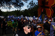 Protesters participate in a march during 2012 Democratic National Convention on Sunday, September 2, 2012 in Charlotte, NC.