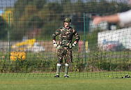 Camouflage-keeper - Dundee Saturday Morning Football League at University Grounds, Riverside, Dundee<br /> <br /> <br />  - &copy; David Young - www.davidyoungphoto.co.uk - email: davidyoungphoto@gmail.com