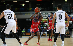 Fred Thomas of Bristol Flyers shoots - Photo mandatory by-line: Arron Gent/JMP - 20/11/2019 - BASKETBALL - Copper Box Arena - London, England - London Lions v Bristol Flyers - British Basketball League Cup