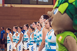 Team of Slovenia before Women's Basketball - Slovenia vs Slovaska on the 14th of June 2019, Dvorana Poden, Skofja Loka, Slovenia. Photo by Matic Ritonja / Sportida
