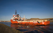 Putford Jaguar North Sea supply vessel, River Yare, Great Yarmouth