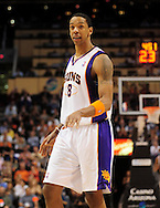 Feb. 15, 2011; Phoenix, AZ, USA; Phoenix Suns forward Channing Frye (8) reacts during a game against the Utah Jazz at the US Airways Center. The Suns defeated the Jazz 102-101. Mandatory Credit: Jennifer Stewart-US PRESSWIRE.