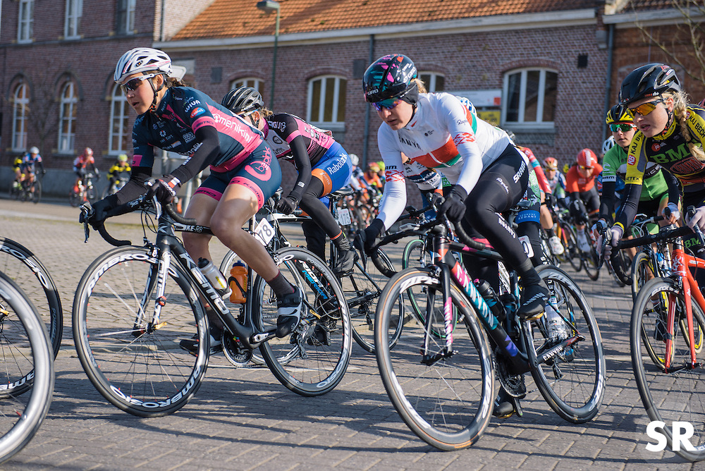 Alena Amialiusik finds space in the early kilometres - 2016 Omloop van het Hageland - Tielt-Winge, a 129km road race starting and finishing in Tielt-Winge, on February 28, 2016 in Vlaams-Brabant, Belgium.