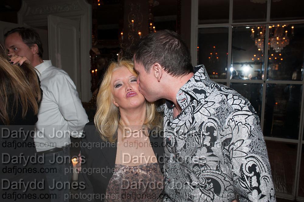 EVA HAROLD; PETER CHIVERS, Eva Harold birthday party. Ballroom, Beach Blanket Babylon. Notting Hill, London. 19 November 2012.
