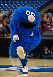 March 29, 2010; Sacramento, CA, USA; The Xavier Musketeers mascot performs during the first half against the Stanford Cardinal in the finals of the Sacramental regional in the 2010 NCAA womens basketball tournament at ARCO Arena.  Stanford defeated Xavier 55-53.