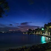 El Morro at night..Puerto Rico, USA.
