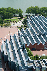 Museum Ludwig roof viewed from above in Cologne Germany